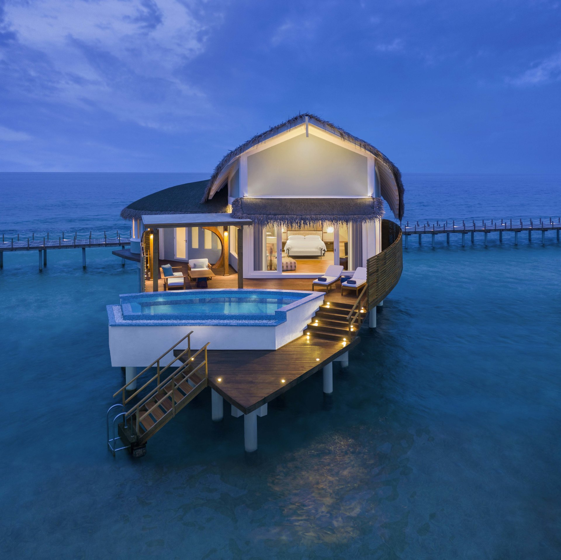 Overwater Pool Villa Sunrise