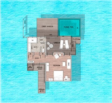 Deluxe Lagoon Villa with Pool - Floor plan